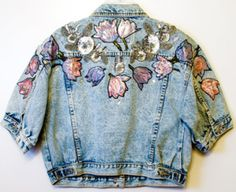 embroidery on denim jacket