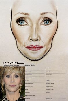 MAC face chart by Amalia Bot face chart - copy the look @ MAC