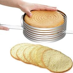 Stainless Steel Cake Cade Cutter Layer Slicer Kit Mousse Mould Slicing Round Cake Mold Adjustable 12 Inch Silver for New Year Christmas * Read more reviews of the product by visiting the link on the image.