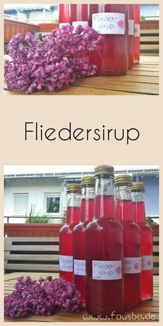 Fliedersirup - Expolore the best and the special ideas about Cocktails Best Butter, Kiss The Cook, Health Desserts, Marmalade, Syrup, Sweet Recipes, Smoothies, Lilac, Diy And Crafts