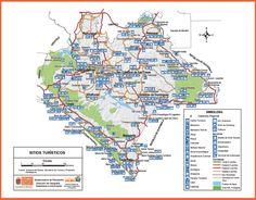 Mapa Turístico de Chiapas (Descargar) | hoteles en tuxtla