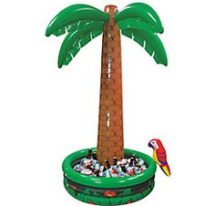 One Large 68 Inch and One Small 27 Inch by happy deals Set of 2 Inflatable Luau Palm Trees