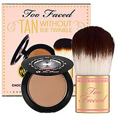 Too Faced Tan Without The Twinkle -   #sephora Makeup Vanities For Sale, Makeup Contouring, What Is Contour Makeup, Bronzer Makeup, Best Bronzer, Contouring Products, Makeup Brushes, Contour Face, Kiss Makeup