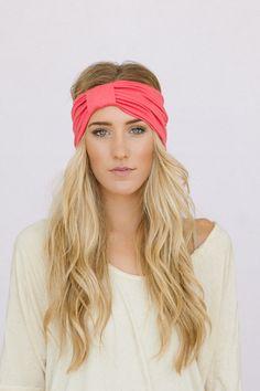 Sparrow Turban Headband - Wide Headband by Three Bird Nest | (Gray)