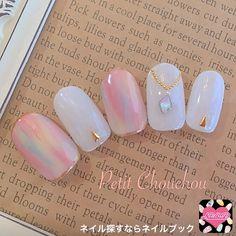 Lovely art nail design in pink🌸 Love Nails, Pretty Nails, My Nails, Japan Nail Art, Asian Nails, Kawaii Nails, Japanese Nails, Elegant Nails, Nagel Gel