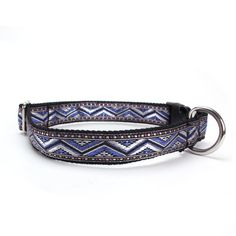 Sacred Pet Boutique : Dog Collar - Aztec Silver Sapphire