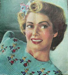 1940s tyrolean ladies jumper, originally on fadedsplendour.com, now found on web.archive.org