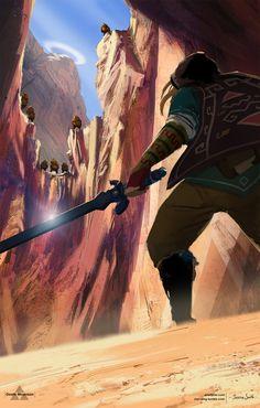 Death Mountain - Zelda Open World by Mei-Xing on DeviantArt. via: http://mei-xing.deviantart.com/