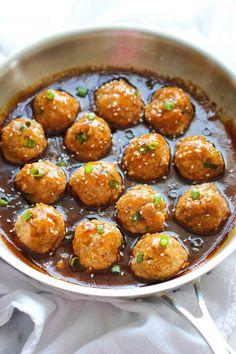 Asian Quinoa Meatballs   FaveHealthyRecipes.com