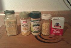 Vegetable Seasoning Recipe | Budget Savvy Diva. 1T onion powder, 1T garlic powder, 1T garlic salt, 1/2t pepper, 1T dried minced onion Seasoning For Vegetables, Vegetable Seasoning, Homemade Spices, Homemade Seasonings, Seasoning Recipe, Seasoning Mixes, Horde, Spice Rub, Spice Mixes