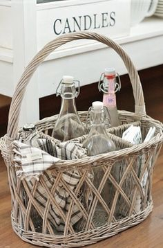 A basket with compartments! Cool!