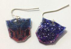 Shrinkles  Transformers  Autobots earrings by LovelyRuthies, £3.00