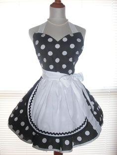 retro french maid apron