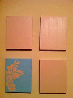 DIY wall art - four small canvases