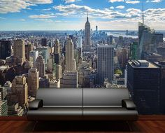 empire state building quot manhattan decorating wallpaper mural art illustrated nyc children square wall murals