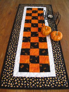 Halloween Table Runner by Quiltedhearts5 on Etsy, $30.00