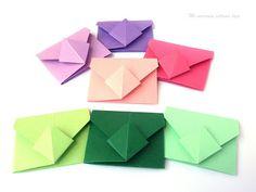 Tutorial sobres de origami