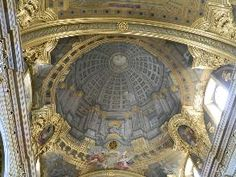 Ceiling of the university church, Vienna.