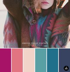 a sweater-inspired color palette