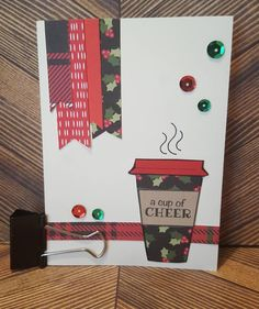 Creation number 4 :) a cup of cheer! I am really enjoying this winter coffee lover's blog hop. #winter2016clh #maymaymadeit  #cuppacuppa #merrychristmas