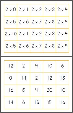 Printable Multiplication Match Game - Mamas Learning Corner