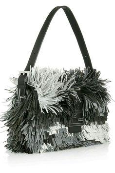 f4f40e4c010 Baguette fringed leather shoulder bag by Fendi