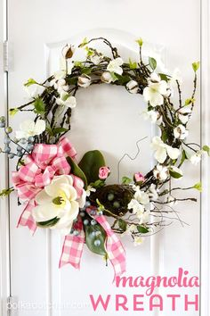 How to make a cute Magnolia Wreath for your front door