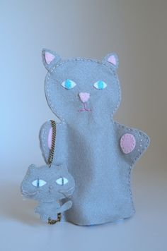 Cat puppet  - puppet for children, children toy, puppet theatre  - by KinkinPuppets on Etsy