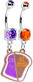 #Body Candy               #ring                     #Peanut #Butter #Jelly #Best #Friends #Belly #Ring #Body #Candy #Body #Jewelry                          Peanut Butter and Jelly Best Friends Belly Ring Set | Body Candy Body Jewelry                           http://www.seapai.com/product.aspx?PID=1196092