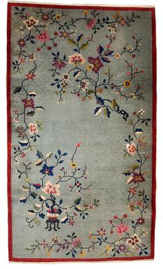Hand made antique Art Deco Chinese rug x ( x ) 1920 Handmade Rugs, Handmade Art, Oriental Design, Oriental Rugs, Magic Carpet, Chinese Art, Chinese Rugs, Doll Furniture, Painting Inspiration