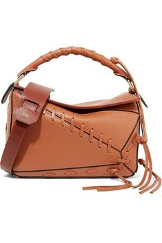 52f60ae60de2 Loewe - Puzzle small whipstitched textured-leather shoulder bag
