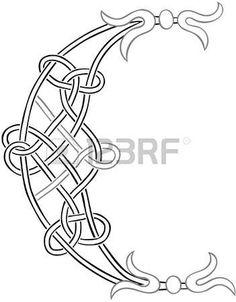 A Knot-lavoro celtica Capital Outline Lettera C stilizzato photo