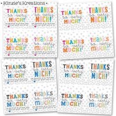 Kinzie's Kreations: Free Printable - Thank you's