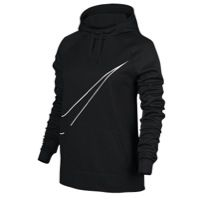 Nike All Time Swoosh Hoodie - Women's - Black / White