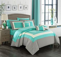 Chic Home 10 Piece Duke Complete Pieced Color Block Bedding, Sheets Collection, Queen, Turquoise Chic Home http://www.amazon.com/dp/B016N0V7IY/ref=cm_sw_r_pi_dp_LqSdxb1HGX5R4