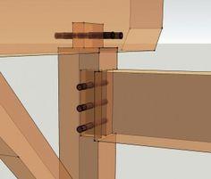 Full Timber Frame Housing Detail -    http://timberframehq.com/fully-house-mortise-and-tenon-joint/