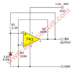 0 30v variable power supply circuit diagram at 3a eleccircuit com 12v power supply diagram super steady zener diode circuit