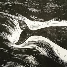 Whale tail for a wail tale? #whale #tail #linocut #printmaking #marinelife…