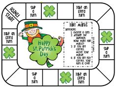 St. Patrick themed math game.