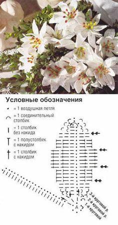 Белые лилии | Искусница | ВЯЖЕМ ЦВЕТЫ И УКРАШЕНИЯ | Постила