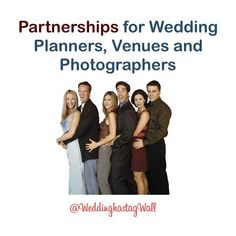 Make a Dynamic Team.  Check out our WeddingHashtagWall - link in the bio - and if you like it - we can complement what you do.  Our partnership details can be linked through at the end of our website... www.weddinghashtagwall.com/partners   Try our free wedding tools while you're there!