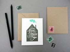 New Home Card by KarolinSchnoor on Etsy, $4.50