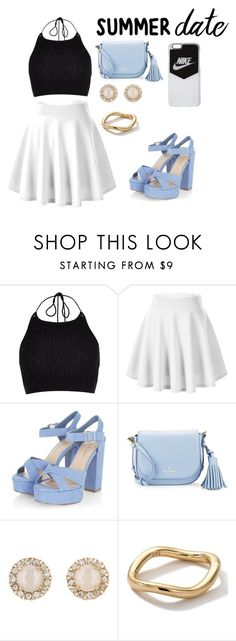"""""""Summer Dates"""" by chikey ❤ liked on Polyvore featuring River Island, Kate Spade, Ippolita, NIKE, summerdate and rooftopbar"""