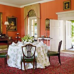 The red dining room of Bowood House - an eighteenth-century English country house with grand Robert Adam interiors and Capability Brown landscapes - stately homes on HOUSE.