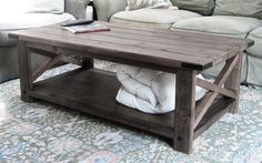Hand Made Rustic Country Chic Coffee Table by HuntingtonCreations, $375.00