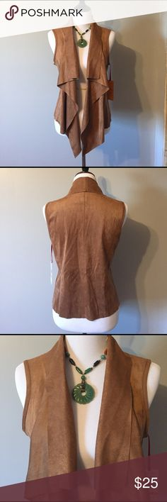 Ruby Rd brown vest This vest almost has a suede feel to it. It hangs beautifully and looks great with jeans or slacks. Very versatile. Ruby Rd Tops