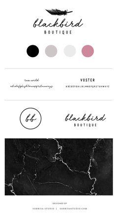 Handwritten logo design for online clothing boutique.