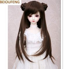 15cm DIY High-temperature Wire Straight Hair Wig for 1//3 1//4 1//6 BJD SD LUTS Dot