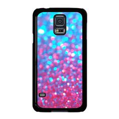 Sparkle Faux Glitter Water Blue Pink Samsung Galaxy S5 Case