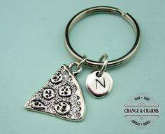 Pizza Slice Keychain, Pizza Keychain, Pizza Charm, Friend Keychain, Best Friend Keychain,Gift for Friend,Custom Keychain,Personalized,CFD004